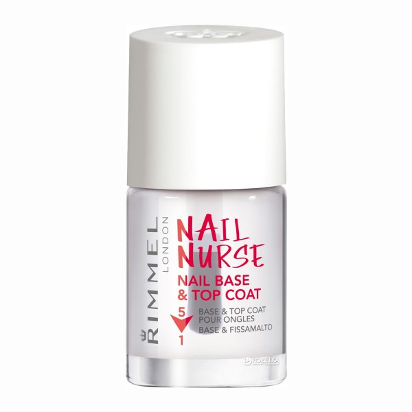 Rimmel nurse nail base&top coat 5in1