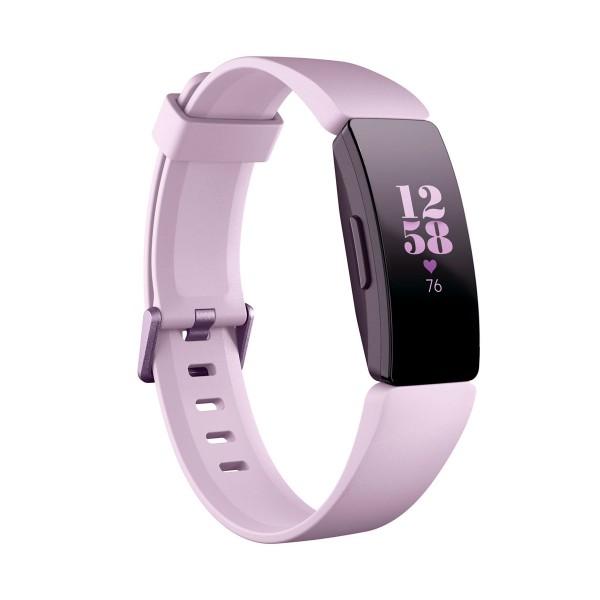 Fitbit inspire hr lila pulsera de actividad con pantalla oled táctil y correa lila