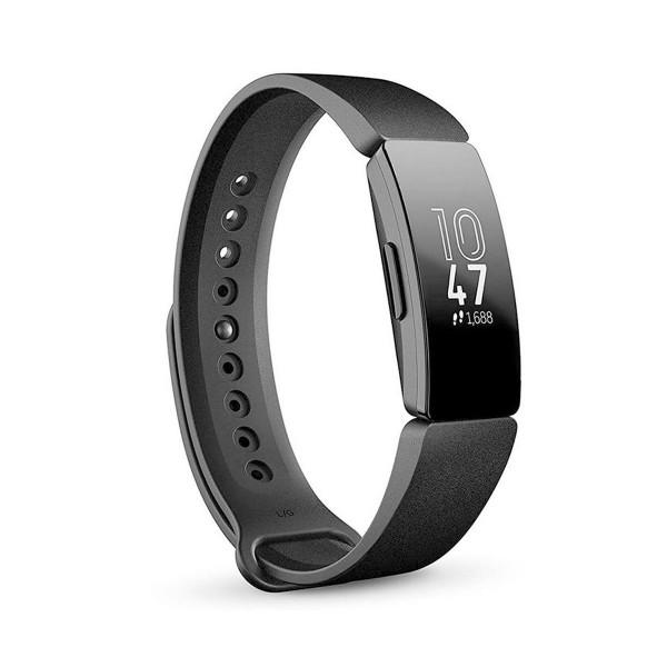 Fitbit inspire negra pulsera de actividad con pantalla oled táctil y correa negra