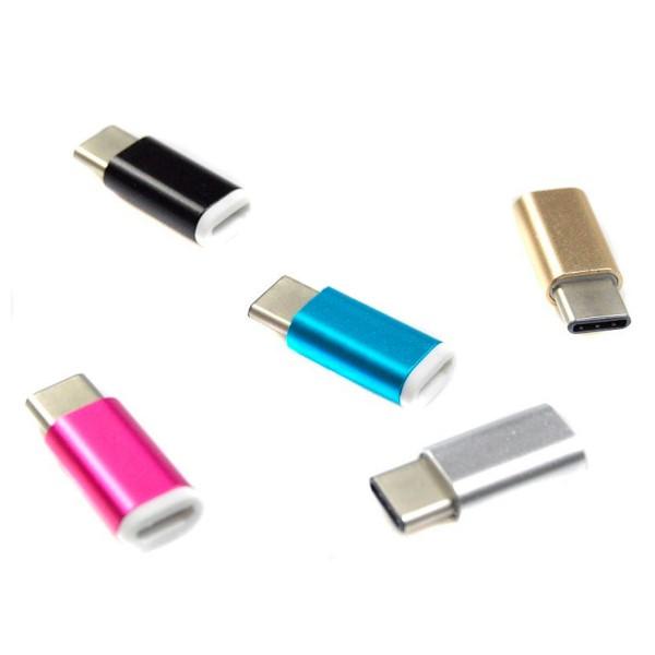 Jc adaptador usb tipo c a micro usb colores variados