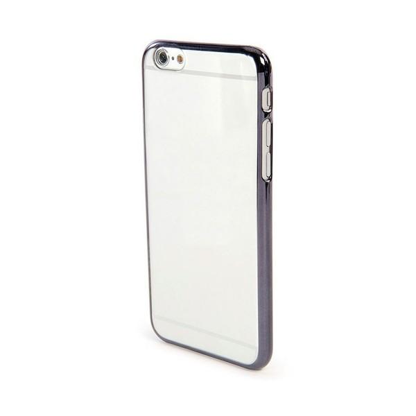Jc funda apple iphone xr silicona transparente borde negro