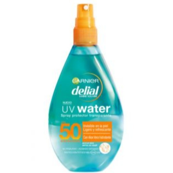 Delial Spray protector rostro  y cuerpo UV water  SPF 50 , 150 ML