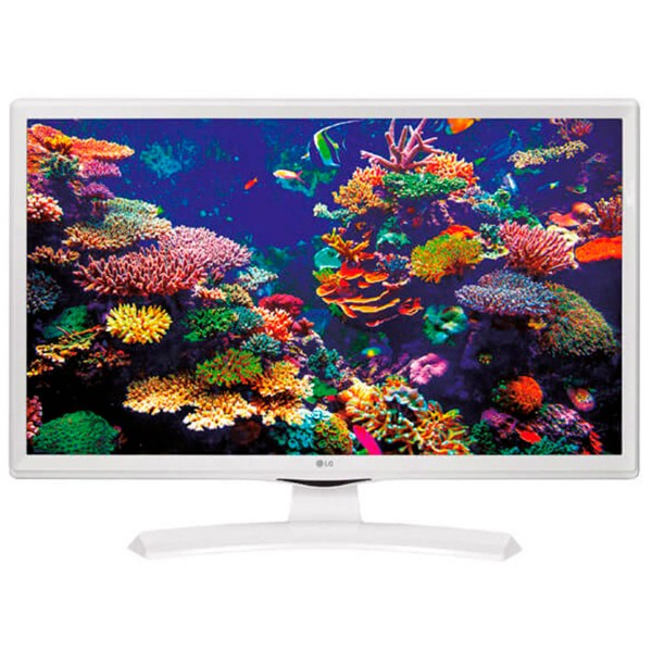 Lg 24tk410v-wz blanco televisor monitor 24'' lcd led hd ready hdmi usb reproductor multimedia