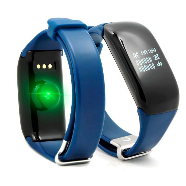 Brigmton bsport-14 azul pulsera de actividad con pantalla oled táctil ip67 bluetooth