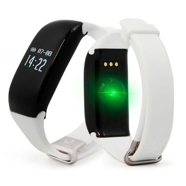 Brigmton bsport-14 blanca pulsera de actividad con pantalla oled táctil ip67 bluetooth