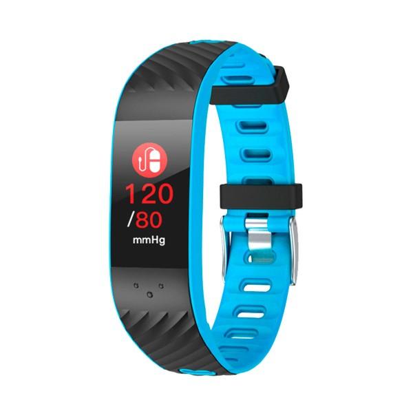Brigmton bsport-16 azul pulsera de actividad con pantalla oled color táctil ip67 bluetooth