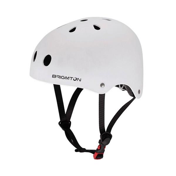 Brigmton bh-1-b blanco casco patín acolchado interior cierre clip talla ajustable