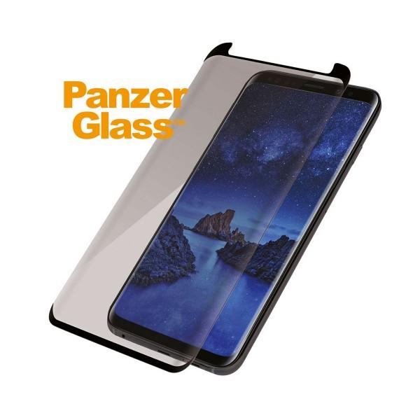 Panzerglass protector de cristal samsung galaxy s9+ negro edge to edge bordes curvos