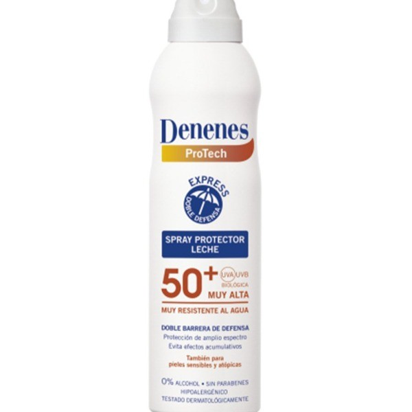 Denenes Spray protector Leche SPF 50+  ,  250 ml