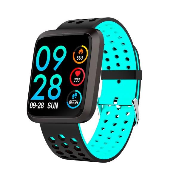 Brigmton bsport-18 azul reloj de actividad con pantalla 1.3'' color táctil ip67 bluetooth