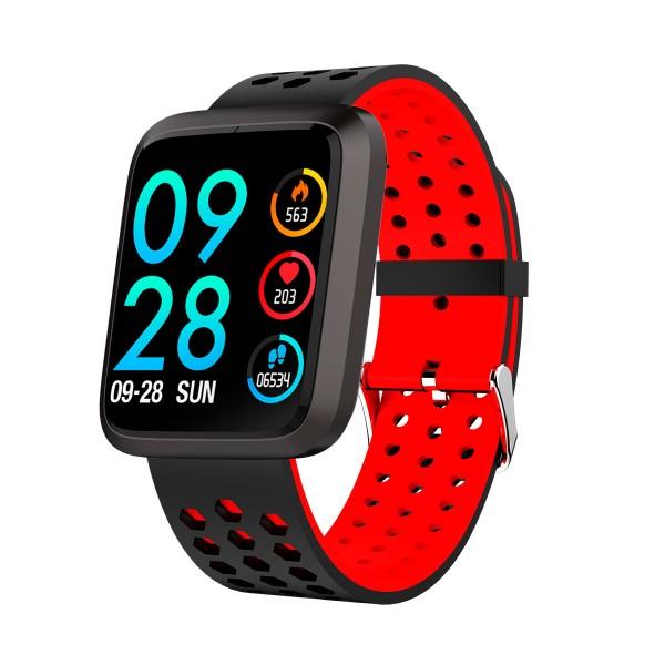 Brigmton bsport-18 rojo reloj de actividad con pantalla 1.3'' color táctil ip67 bluetooth