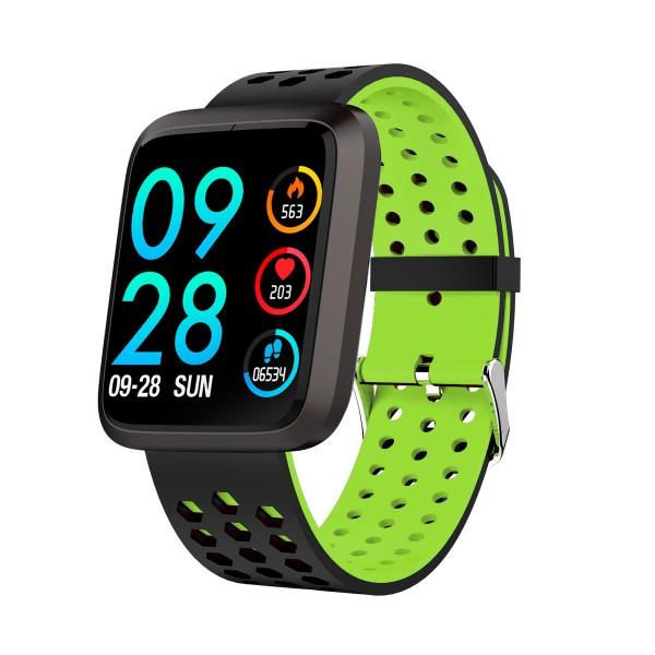 Brigmton bsport-18 verde reloj de actividad con pantalla 1.3'' color táctil ip67 bluetooth