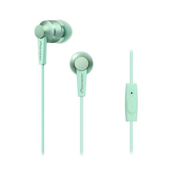 Pioneer se-c3t verde auriculares con micrófono diseño acabado en aluminio alta calidad