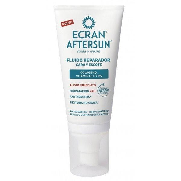 Ecran Aftersun fluido reparador cara y  escote 50 ml .