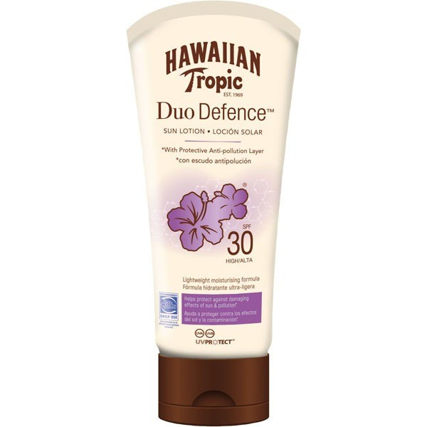 Hawaiian tropic duo defence sun lotion spf30 180ml