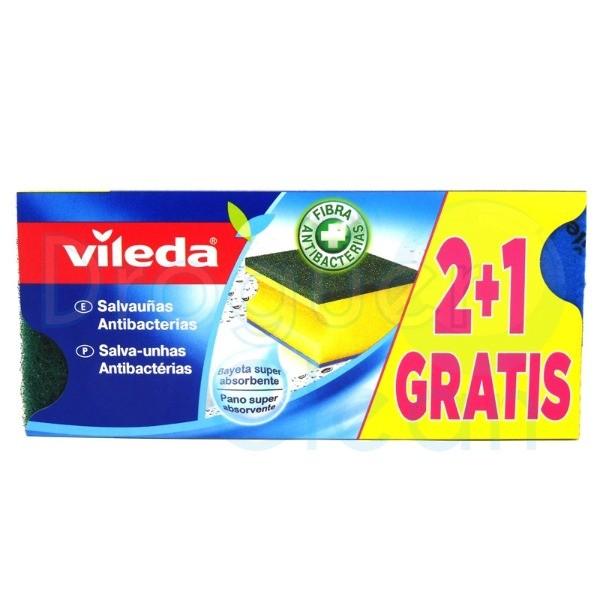 Vileda estropajo salvauñas 2+1