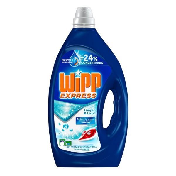 WIPP EXPRESS Detergente Limpio Liso gel 40 + 40 . 4 L .