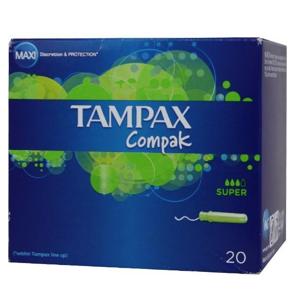 Tampax Compak  Súper  20 u