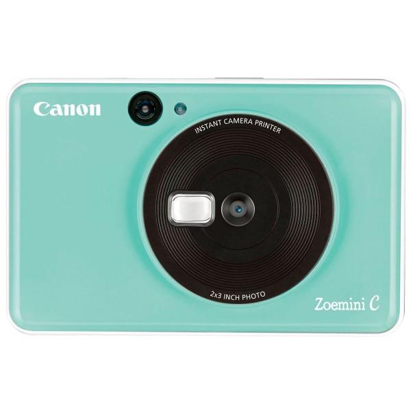 Canon zoemini c verde menta cámara 5mpx impresora instantánea 5x7.6cm