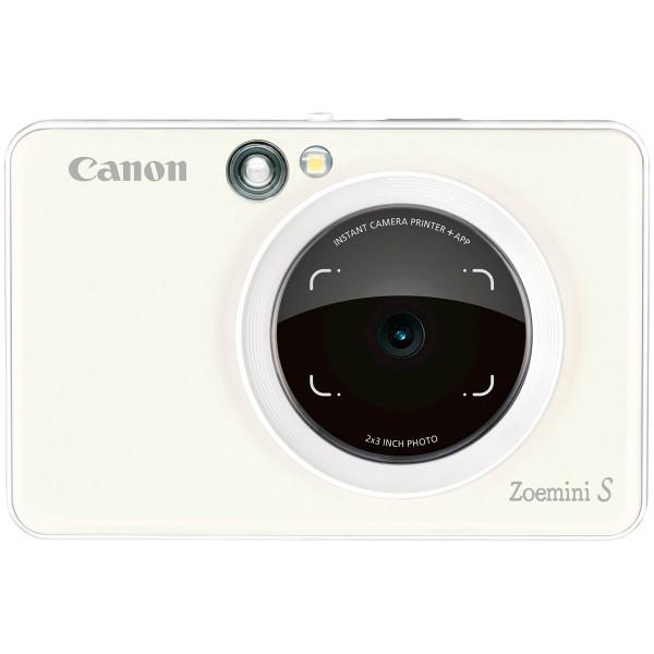 Canon zoemini s blanco perla cámara 8mpx impresora instantánea 5x7.6cm