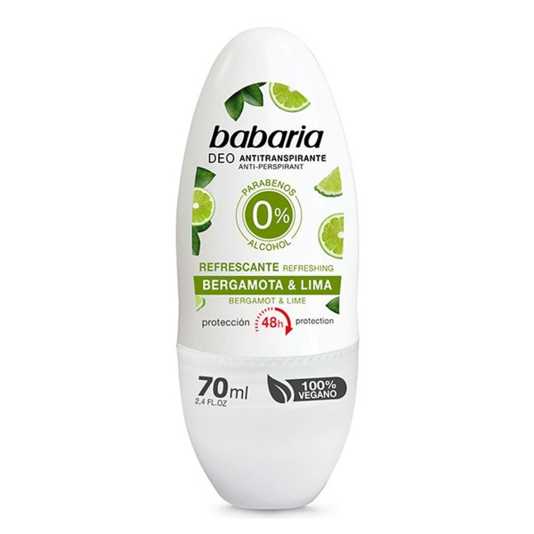 Babaria bergamota & lima desodorante roll-on 70ml