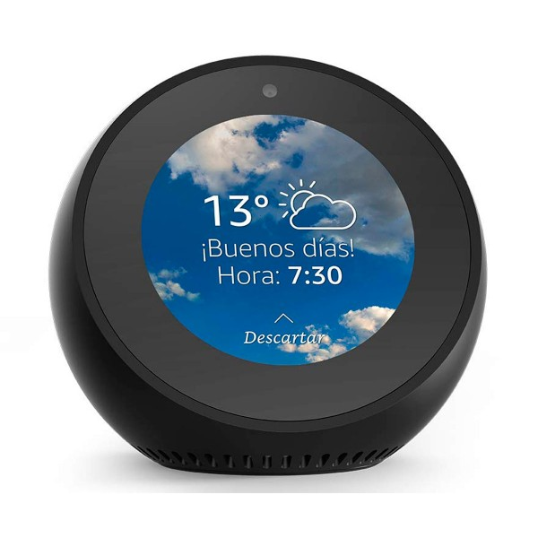 Amazon echo spot negro reloj despertador inteligente con alexa bluetooth wifi