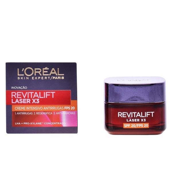 L´Oréal Revitalift Laser x 3. Crema Intensiva Antiarrugas, SPF20.  50 ml