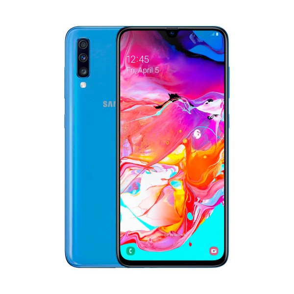 Samsung galaxy a70 azul móvil 4g dual sim 6.7'' super amoled fhd+/8core/128gb/6gb ram/32mp+5mp+8mp/32mp