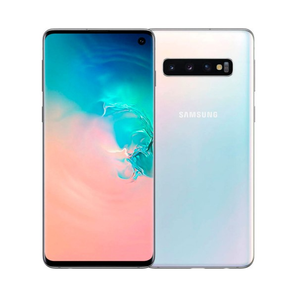 Samsung galaxy s10 blanco móvil dual sim 4g 6.1'' dynamic amoled qhd+/8core/128gb/6gb ram/16+12+12mp/10mp